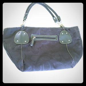 "COACH Oversize Bag/tote black 20""x18"""